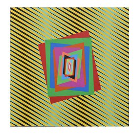 Chromatism and optical art, acrylic colours on canvas, cm. 80x80, anno 2013